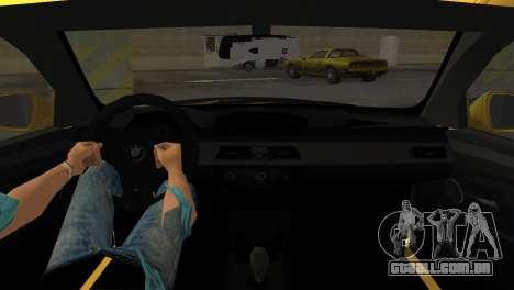BMW M5 E60 para GTA Vice City vista traseira esquerda