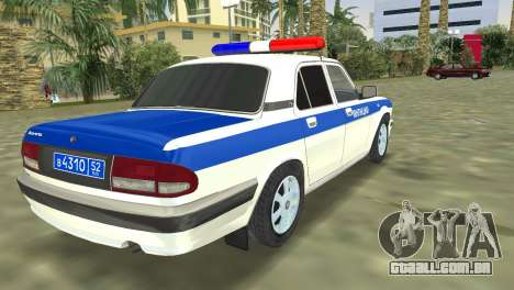 GAZ 31105 Volga DPS para GTA Vice City deixou vista