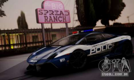 Lamborghini Gallardo LP 570-4 2011 Police v2 para GTA San Andreas vista interior