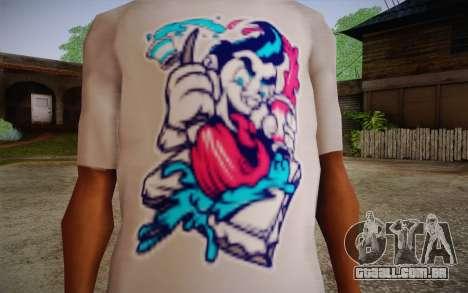 Nick Automatic T-Shirt para GTA San Andreas terceira tela