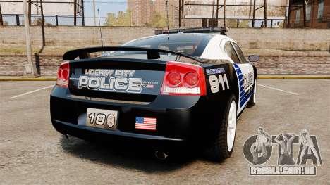 Dodge Charger SRT8 2010 [ELS] para GTA 4 traseira esquerda vista