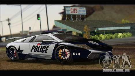 Lamborghini Murcielago LP670 SV Police para GTA San Andreas