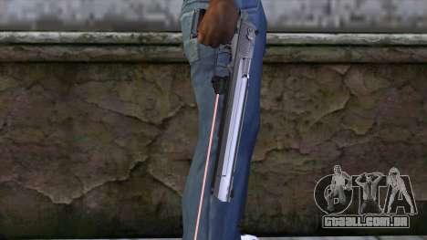 Desert Eagle com mira a laser para GTA San Andreas terceira tela