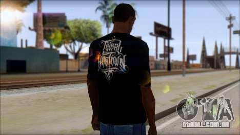 Tribal DOG Town T-Shirt Black para GTA San Andreas segunda tela