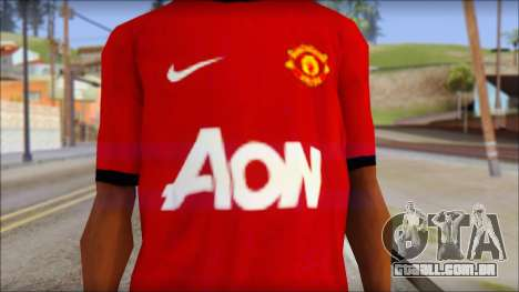 Manchester United 2013 T-Shirt para GTA San Andreas terceira tela