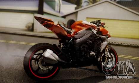 Kawasaki Z1000 2014 para GTA San Andreas esquerda vista