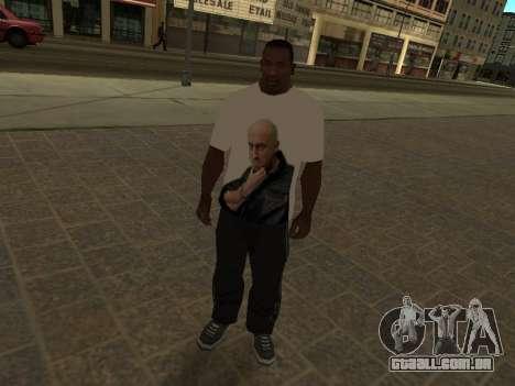 T-Shirt Professor para GTA San Andreas