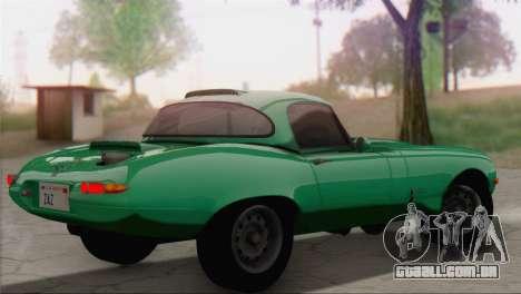 Jaguar E-Type para GTA San Andreas esquerda vista
