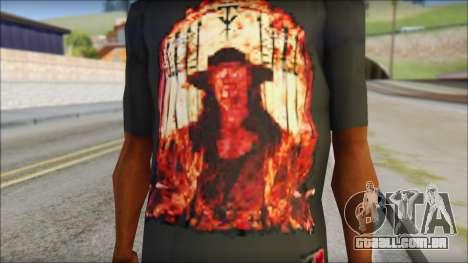 Undertaker T-Shirt para GTA San Andreas terceira tela