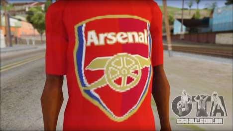 Arsenal T-Shirt para GTA San Andreas terceira tela