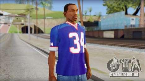 NY Buffalo Bills Blue para GTA San Andreas