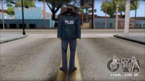 Deutscher Polizist para GTA San Andreas segunda tela
