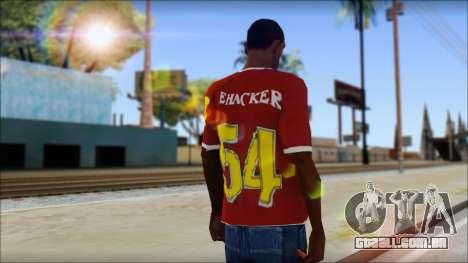 Cenation EHacker Shirt para GTA San Andreas segunda tela