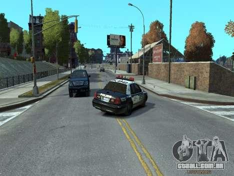 Ford Crown Victoria Police NYPD 2014 para GTA 4 vista direita