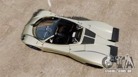 Pagani Zonda C12S Roadster 2001 v1.1 PJ1 para GTA 4 vista direita
