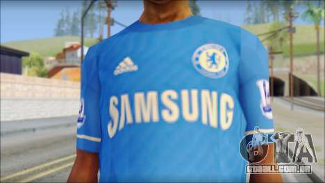 Chelsea FC 12-13 Home Jersey para GTA San Andreas terceira tela