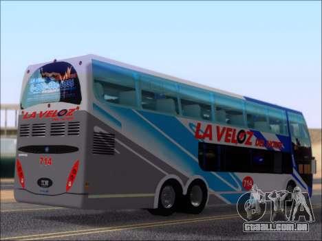 Metalsur Starbus DP 1 6x2 - La Veloz del Norte para GTA San Andreas vista direita