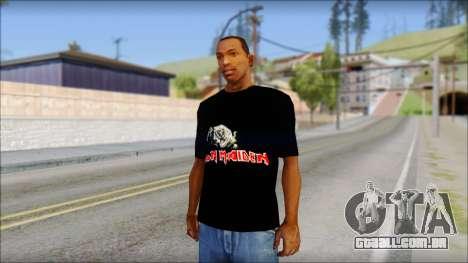 Iron Maiden T-Shirt para GTA San Andreas
