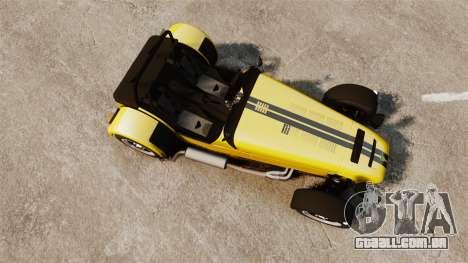 Caterham Seven 620 R para GTA 4 vista direita