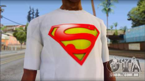 Superman T-Shirt para GTA San Andreas terceira tela