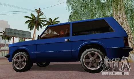 Huntley Coupe para GTA San Andreas traseira esquerda vista
