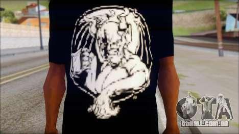Diablo T-Shirt para GTA San Andreas terceira tela
