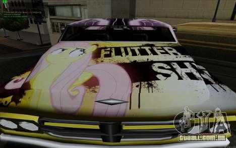 O trabalho da pintura para Slamvan MLP Fluttersh para GTA San Andreas