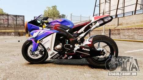 Yamaha YZF-R1 PJ1 para GTA 4 esquerda vista
