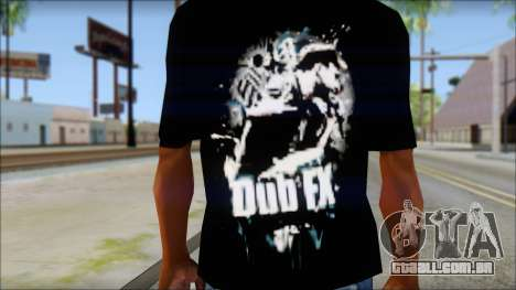 Dub Fx Fan T-Shirt v1 para GTA San Andreas terceira tela