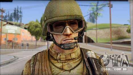 Desert GROM from Soldier Front 2 para GTA San Andreas terceira tela
