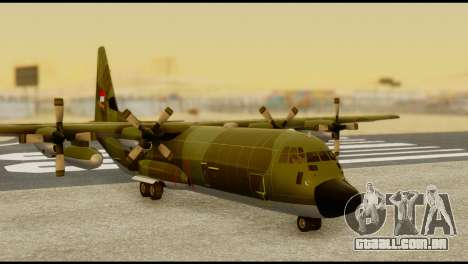 C-130 Hercules Indonesia Air Force para GTA San Andreas traseira esquerda vista