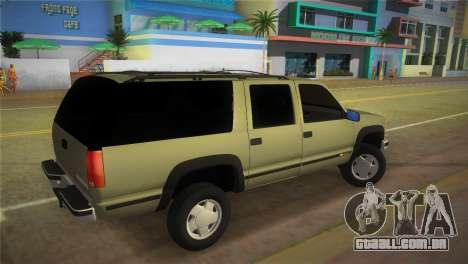 Chevrolet Suburban 1996 GMT400 para GTA Vice City deixou vista