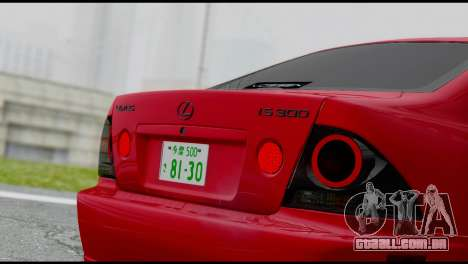 Lexus IS300 Vossen para GTA San Andreas vista direita