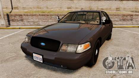 Ford Crown Victoria Sheriff [ELS] Unmarked para GTA 4