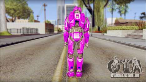 Masterchief Purple from Halo para GTA San Andreas segunda tela
