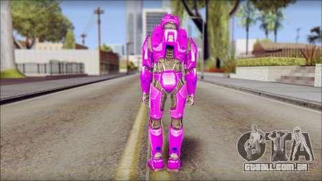 Masterchief Purple from Halo para GTA San Andreas segunda tela
