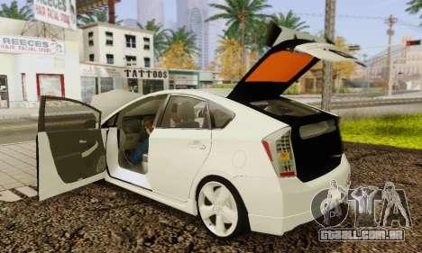 Toyota Prius Tunable para GTA San Andreas interior