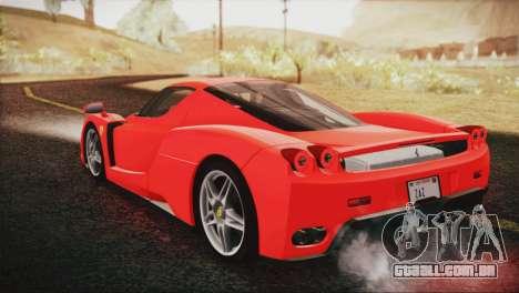 Ferrari Enzo 2002 para GTA San Andreas esquerda vista