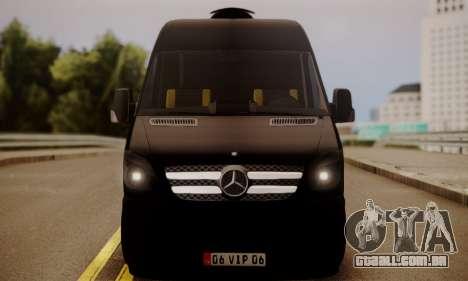 Mercedes-Benz Sprinter 315 CDi para GTA San Andreas traseira esquerda vista