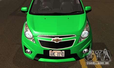 Chevrolet Spark 2011 para vista lateral GTA San Andreas