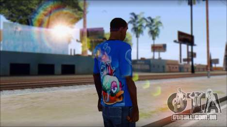 Fish T-Shirt para GTA San Andreas segunda tela