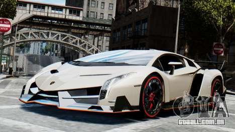 Lamborghini Veneno 2013 para GTA 4 traseira esquerda vista