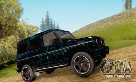 Mercedes-Benz G65 Black Square Pattern para GTA San Andreas esquerda vista