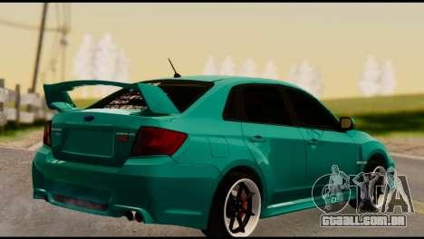 Subaru Impreza Stance Works para GTA San Andreas esquerda vista
