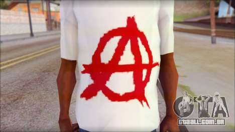 Anarchy T-Shirt v3 para GTA San Andreas terceira tela