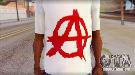 Anarchy T-Shirt v3 para GTA San Andreas terceira tela