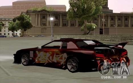 O trabalho da pintura para a Yakuza Elegia para GTA San Andreas traseira esquerda vista