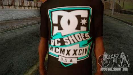 DC Shoes USA T-Shirt para GTA San Andreas terceira tela