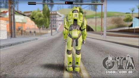 Masterchief Green from Halo para GTA San Andreas terceira tela