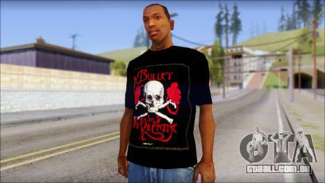 Bullet for my Valentine Fan T-Shirt para GTA San Andreas